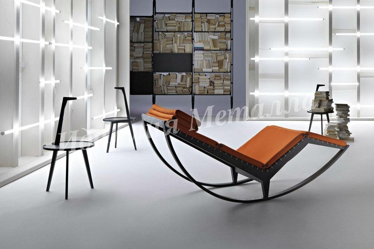 Кресло качалка в стиле Лофт KACHALKA-026
