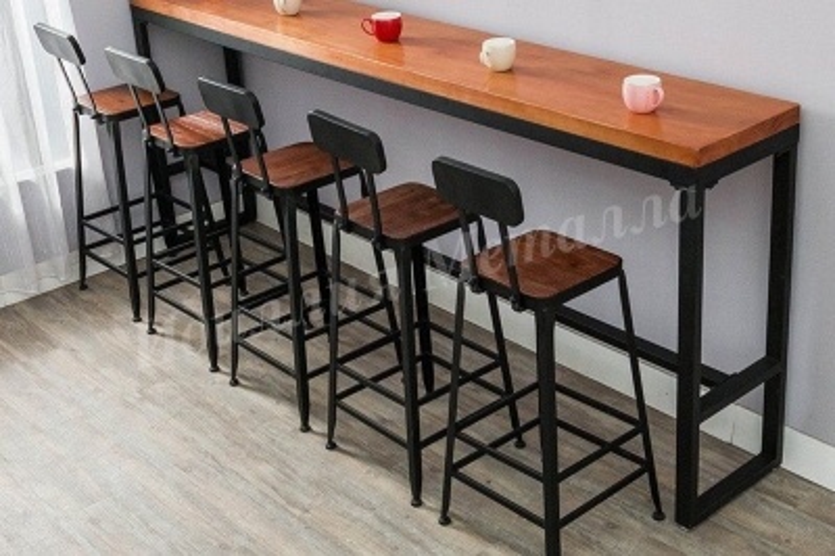 Стол барный высокий в стиле Лофт STOL-LOFT-006