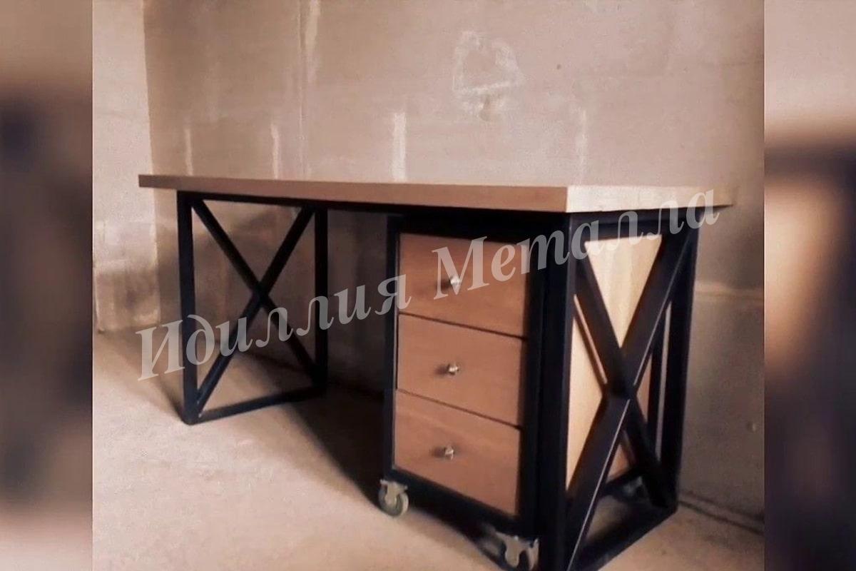 Письменный стол для офиса Лофт STOL-WRITE-019