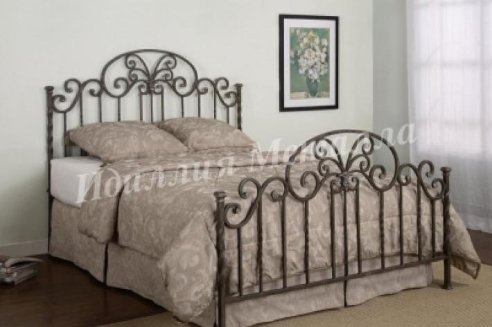 Дизайнерская двуспальная кровать ручной работы 088