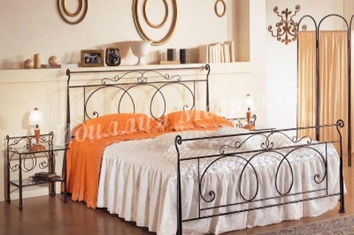 Кровать кованая двуспальная 091